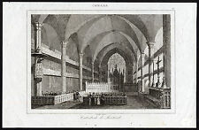Antique Print-MONTREAL-CATHEDRAL-INTERIOR VIEW-CANADA-Lemaitre-1849