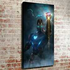 "12""x22""Iron man and cool hand Poster HD Canvas print Painting Home decor art"