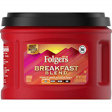 New listing Folgers Breakfast Blend Mild Roast Ground Coffee, 21.6 Ounces Pack of 3