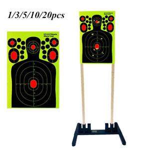 Hunting Training Shooting Target Paper Fluorescent Sticker Target Splash 1-10PCS