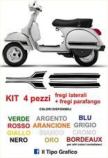 Kit Adesivi Fregi Vespa PX laterali + parafango - Moto Scooter LML STAR T5 TS