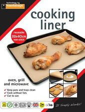 2X NON STICK REUSEABLE  33 X 40 COOKING LINER FOR FAT FREE COOKING TURKEY