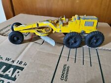 VINTAGE HUBLEY 481 KIDDIE TOY DIECAST METAL TOY CONSTRUCTION ROAD GRADER ~ U.S.A
