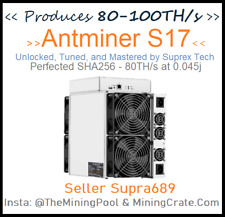 Antminer S17 Firmware Overclock + Adds AsicBoost 82TH @ 3500w MiningCrate/VNISH