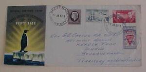 NEW ZEALAND  ANTARCTIC ROSS DEPENDENCY SCOTT BASE 1957  JAN 11 TO NEW GUINEA