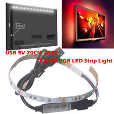 USB 5V 2835 12SMD 20CM RGB LED Streifen Lichterketten Bar TV Zurück Beleuchtung