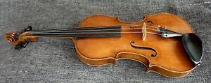 alte Geige 4/4 Violine mit Zettel 1854 Old Violin with Label spielbereit
