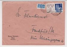 Bizone / Bauten, Mi. 82wg, 75eg, Maar über Lauterbach, 17.3.49