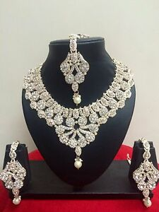 Indian Designer Bollywood Fashion Bridal Jewelry Necklace Set