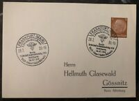 1939 Frankfurt Germany Postcard Airmail Cover FDC International Aviation Fair