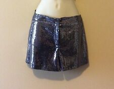 TopShop Slate Gray Sequin Shorts Size 2