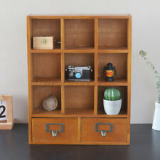 Retro Style Small Wooden Wall Shelf Storage Shelving Pigeon Hole Displa