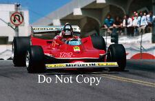 Gilles Villeneuve Ferrari 312 T4 USA West Grand Prix 1979 Photograph 3