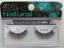 Ardell Fashion Lashes #105 Eyelashes Black 4 pack