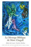 Retro Louvre France Paris Chagall 1967 Classic Print Poster Wall Art Picture A4+