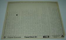 Microfich Ersatzteilkatalog VW Passat Typ 32B 32 B B2 B 2 ab Modelljahr 1982!