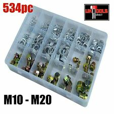 534pc Oil Drain Plug Screws & O-Ring Set M10*12*13*14*15*16*18*20*UNVERSAL SET*