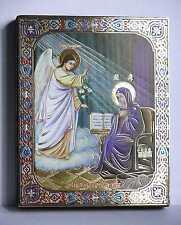 Ikone Mariä Verkündigung GM geweiht Благовещение пресвятой Богородицы 12x10x2 cm