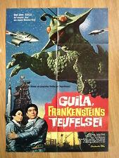 TOHO Girara - The X from Outer Space  German 1-sheet 1967 Sci-Fi GUILA