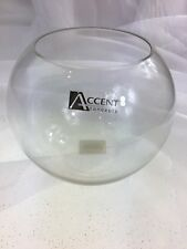 Fish/Rose Glass Bowl Decorative Homeware Piece