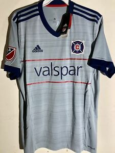 Adidas MLS Jersey Chicago Fire Team Grey sz M