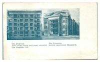 The Pickwick and the Touraine Apartment Houses, Los Angeles, CA Postcard *6E(2)7