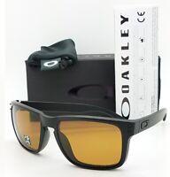 NEW Oakley Holbrook sunglasses Matte Black Bronze Polarized 9102-98 AUTHENTIC
