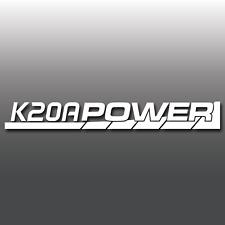 K20A POWER HONDA i VTEC MOTORE JDM euro Finestrini Auto Paraurti Decalcomania In Vinile Autoadesivo