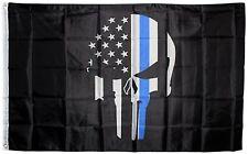 Police Flag Thin Blue Line Flags Punisher Banner Memorial USA Skull free ship