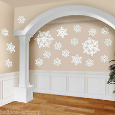 20 Christmas Frozen Glitter Snowflake Sparkle Value Cutout Party Decorations