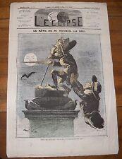 L'Éclipse Journal Satirique N°176 Le Rêve De M Rouher Par Gill 10 Mars 1872