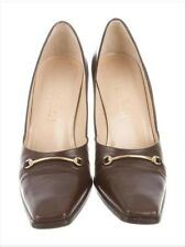 Gucci Horsebit Brown Pumps sz 35 1/2 C