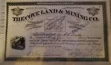 * The Coveland & Mining Company Stock Certificate Michigan MI MICH