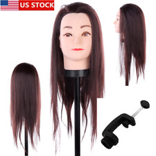 Great Quality Female Hair Training Head Practice Model Mannequin + Free Clamp Us