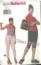 6029 UNCUT Butterick Pattern Juniors Loose Fitting Tapered Pants Teen Style OOP