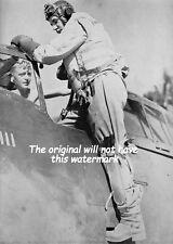 RAF 135 SQUADRON THUNDERBOLT PILOT SGT WALKER 1944 VINTAGE WAR PICTURE MOUNTED