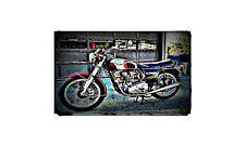 1973 trident t150v Bike Motorcycle A4 Retro Metal Sign Aluminium