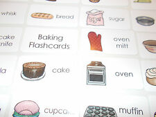 23 Baking Laminated Flashcards.  Preschool-1st Grade Culinary Arts and Home Econ