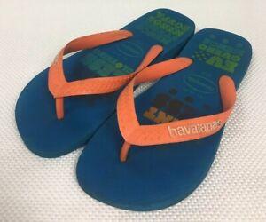Havaianas Unisex Flip Flops 37-38 Blue Orange