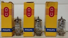 3 EF86 NOS TESTED TUBES EF-86 PHILIPS SILVER HAT MAZDA MADE AUDIO PREAMP TUBES