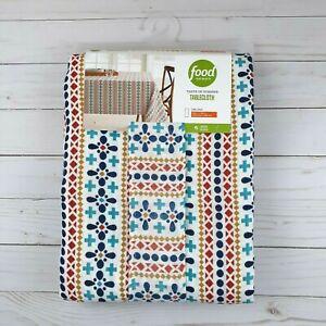 Food Network Fabric Tablecloth Geometric Stripe 60x102