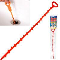 48cm Long Drain Unblocker Stick Hair Remover Sink Shower Cleaner Snake
