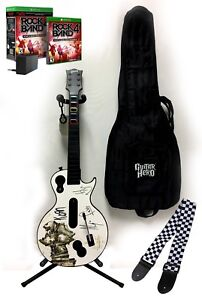 Xbox One Rock Band 4 KORN Gibson Wireless Guitar *Legacy Adapter *Strap*RB4 Game