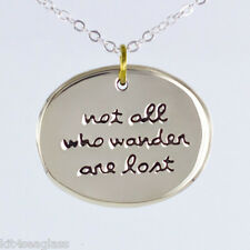 "Lost - Necklace Pendant 16-18"" Chain Box Far Fetched - Not All Who Wander Are"