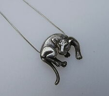 Sleek 14K White Gold Panther Pendant With 10K Italy Chain Stamped RVL