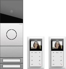 Gira 2417000 Zweifamilienhaus-Paket Video, System 106, Edelstahl