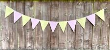 Garland Bunting Home Easter Decoration Room Deco Pastel Pink Yellow Colours