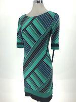 Madison Leigh NWT Elegant Women's Dress Green Short Sleeve size 10 12