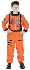 NASA JR ASTRONAUT SUIT ORANGE CHILD COSTUME Space Moon Theme Party Kid Halloween