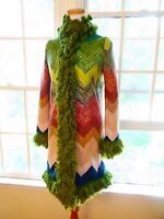 NWT $4,830 Missoni Fall 2015 ORANGE LABEL Wool Coat 40 2,4